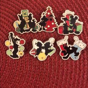 Disney silhouette Christmas pins